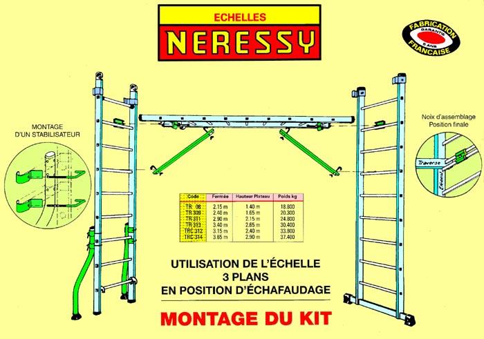 Le kit chafaudage pour chelle transformable - Taquet d echelle ...